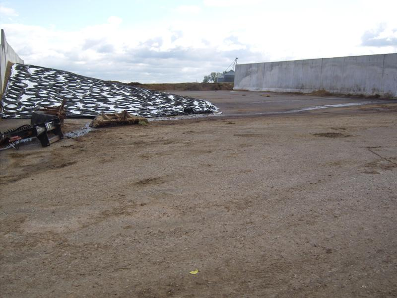 120' x 150' & 16' High Cement Feed Bunker